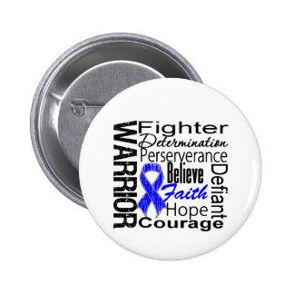 Anal Cancer Warrior Collage Button