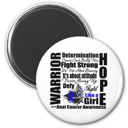 Anal Cancer Warrior Fight Slogans Fridge Magnets