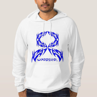 Anal Cancer Warrior Tribal Ribbon Hooded Pullover