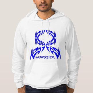 Anal Cancer Warrior Tribal Ribbon Hoodie