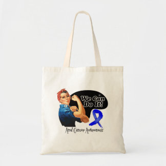 Anal Cancer We Can Do It Rosie The Riveter Budget Tote Bag