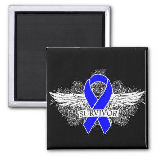 Anal Cancer Winged SURVIVOR Ribbon Magnet