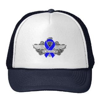 Anal Cancer Winged SURVIVOR Ribbon Mesh Hat