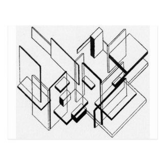 Análisis arquitectónico de Theo van Doesburg Postal