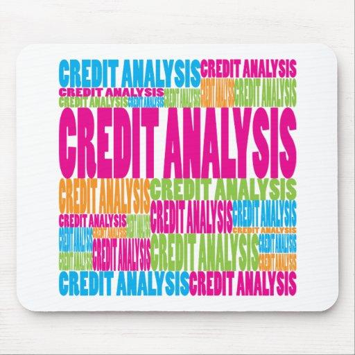 Análisis de crédito colorido alfombrilla de ratones