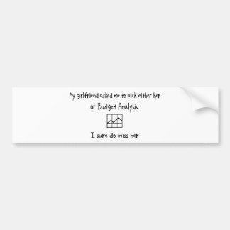 Análisis de la novia o del presupuesto de la selec pegatina de parachoque