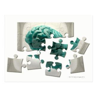 Análisis del cerebro ilustraciones conceptuales d postales