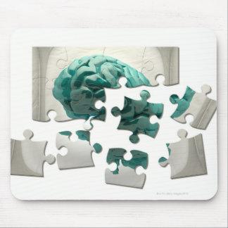 Análisis del cerebro, ilustraciones conceptuales d alfombrillas de ratón