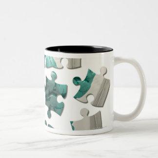 Análisis del cerebro, ilustraciones conceptuales d tazas de café
