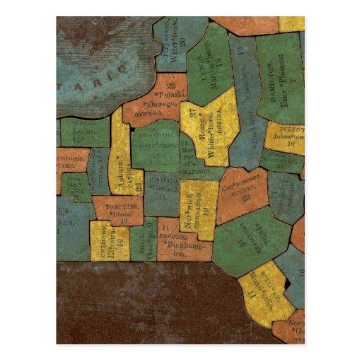 Análisis geográfico del estado de Nueva York Postal