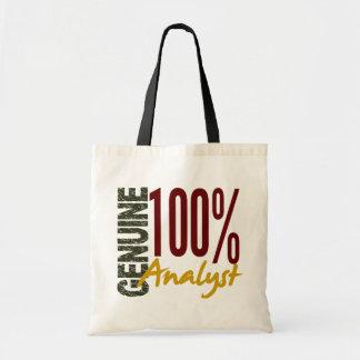 Analista auténtico bolsas