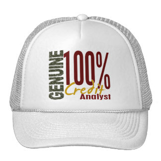Analista de crédito auténtico gorras