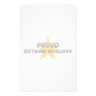 Analista de programas informáticos orgulloso papeleria de diseño