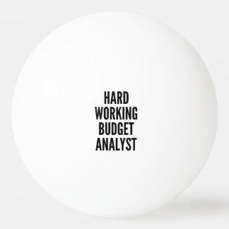 Analista duro del presupuesto de funcionamiento pelota de ping pong