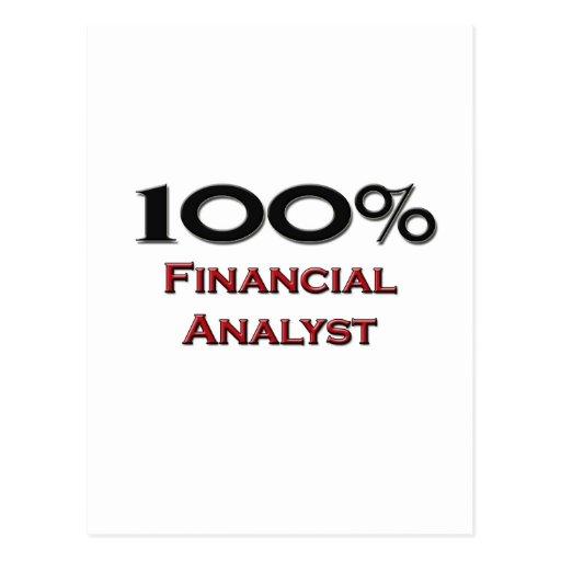Analista financiero del 100 por ciento postales