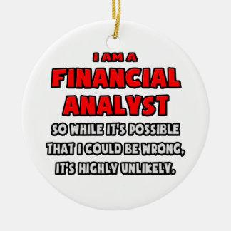 Analista financiero divertido. Altamente Adorno Redondo De Cerámica