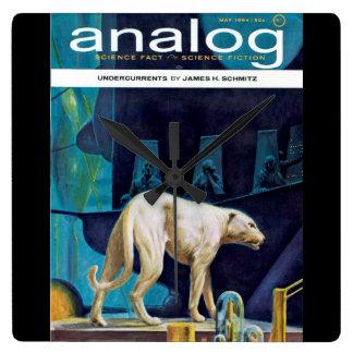 Analog 1964-05_pulp Art Square Wall Clock