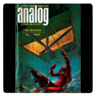 Analog - 1966.0911_Pulp Art Square Wall Clock