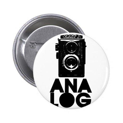 Analog! Pinback Button