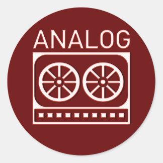 Analog (cassette) classic round sticker