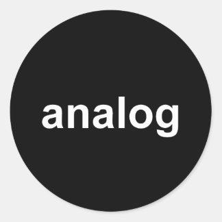 analog classic round sticker