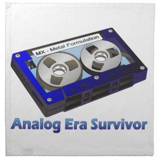 Analog Era Survivor! Cloth Napkin