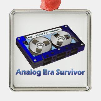 Analog Era Survivor! Metal Ornament