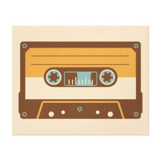 Analog Mix Tape Cassette Canvas Print