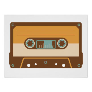 Analog Mix Tape Cassette Poster