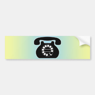 analog phone bumper sticker