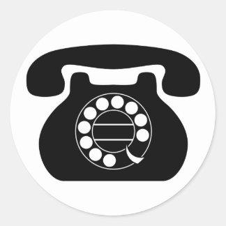 analog phone classic round sticker