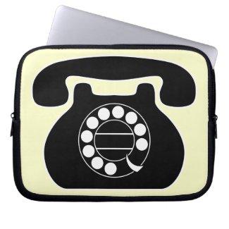 analog phone computer sleeves