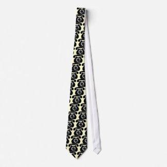 analog phone neck tie
