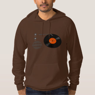 Analog record player hoodie