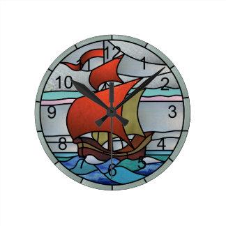 Analog Sailboat Round Clock