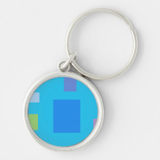 Analogy Silver-Colored Round Keychain