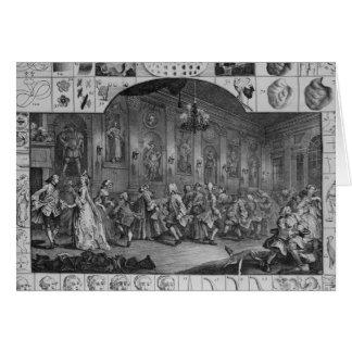 Analysis of Beauty, Plate II, 1753 Greeting Card