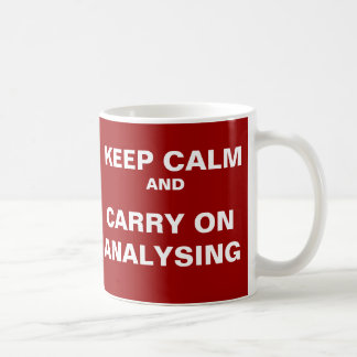 Analyst Mug - Carry On Analysing - Funny quote