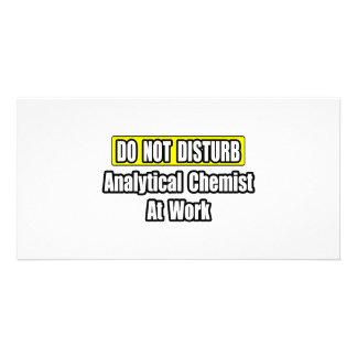 Analytical Chemist At Work Photo Card