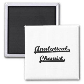 Analytical Chemist Classic Job Design 2 Inch Square Magnet