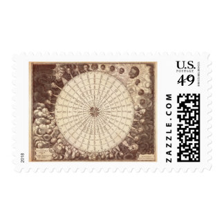 Anamorphic Wind Rose Engraving Postage
