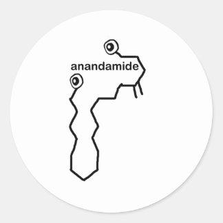 Anandamide Neurotransmitter Classic Round Sticker