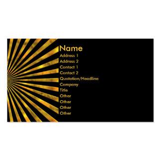 Anaranjado amarillo tarjeta de visita de los haces