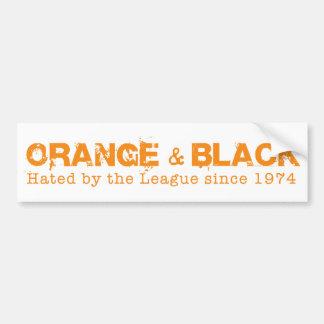 Anaranjado y negro en naranja pegatina para auto