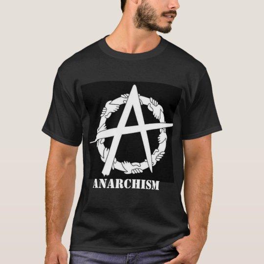 anarchism circle-a hands t-shirt