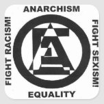 anarchism equality white sticker