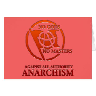 anarchism greeting card