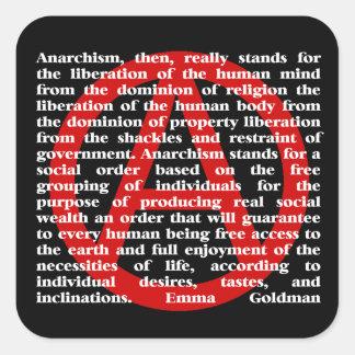 Anarchism Is Quote Sticker