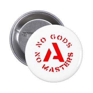 Anarchism - No Gods No Masters Pinback Buttons