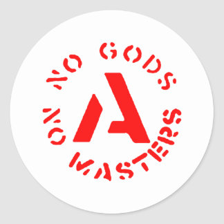 Anarchism - No Gods No Masters Classic Round Sticker